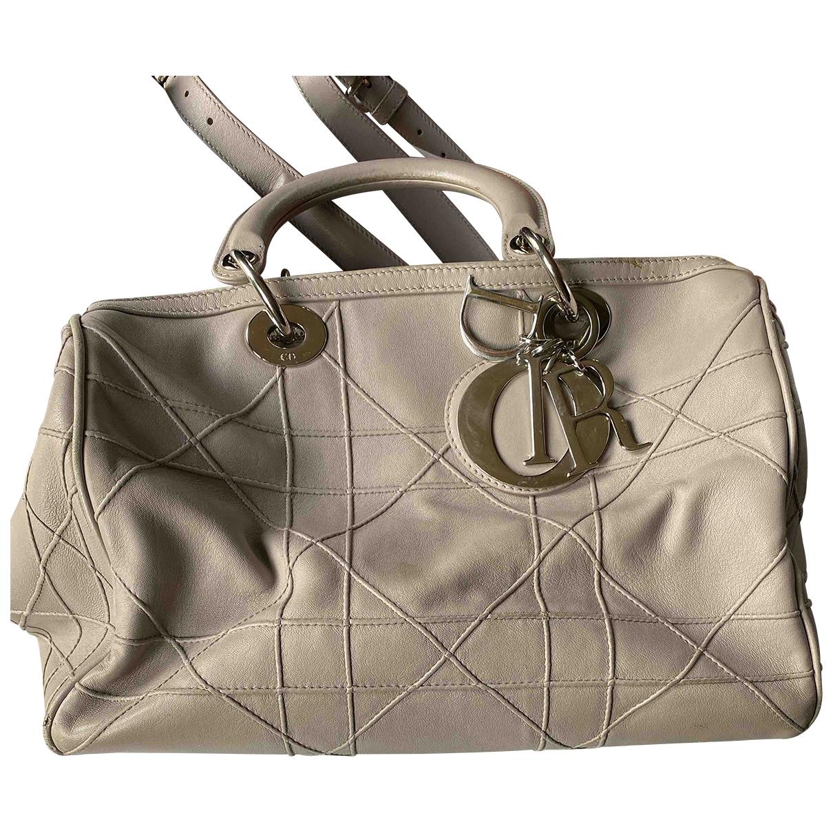 Dior Granville Grey Leather handbag for Women \N