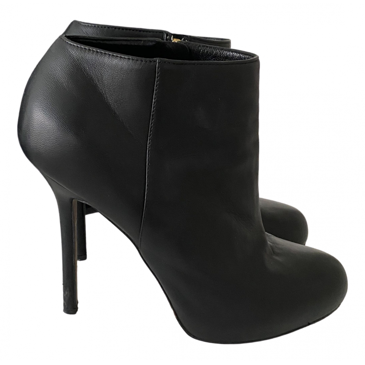 Sergio Rossi \N Black Leather Ankle boots for Women 38 EU