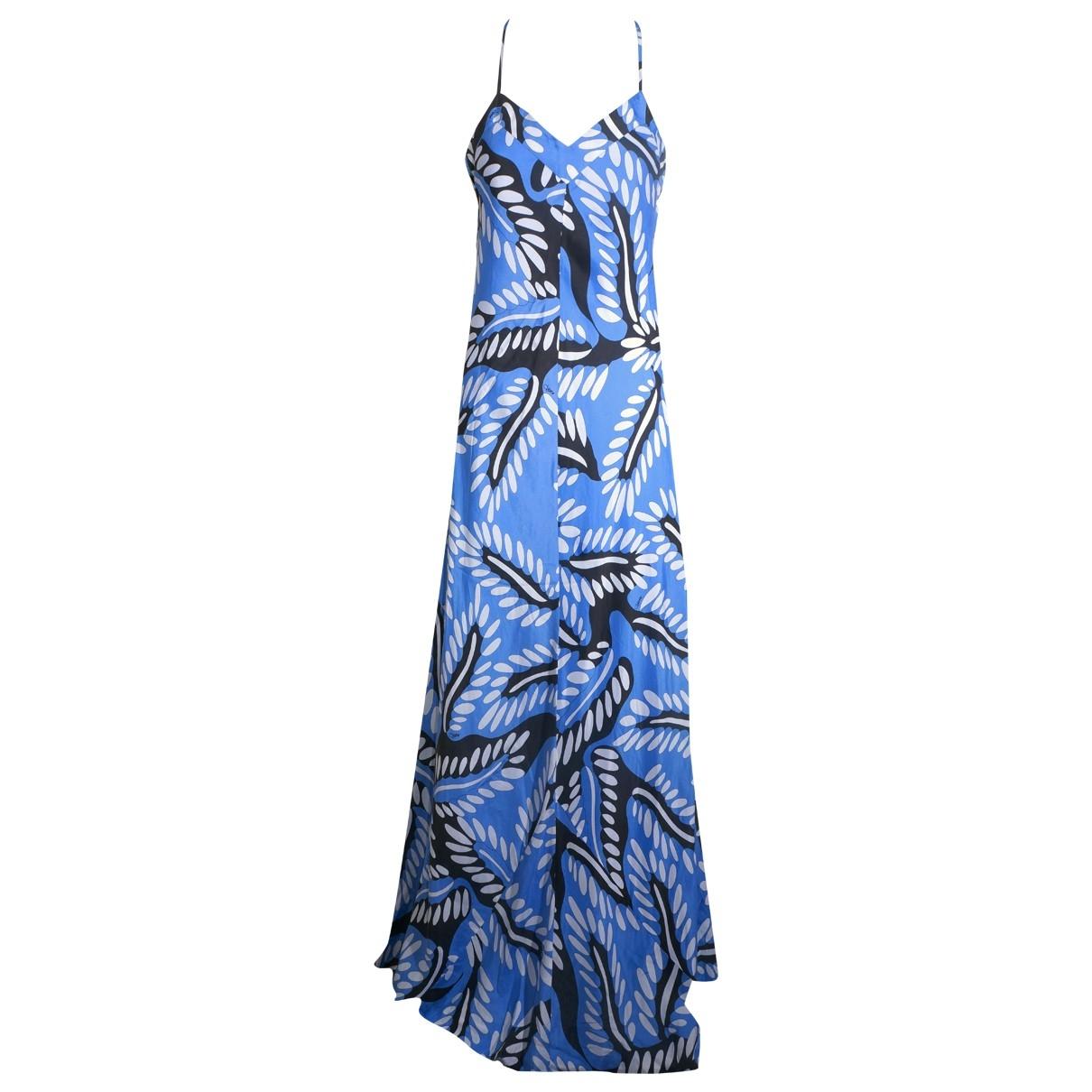 Diane Von Furstenberg - Robe   pour femme en soie - bleu