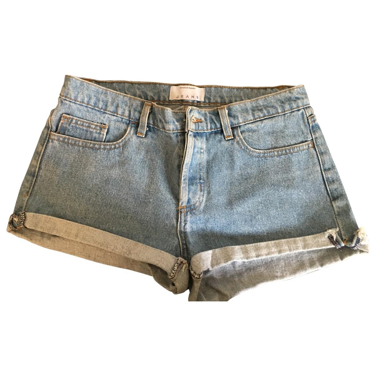 American Apparel - Short   pour femme en denim - bleu