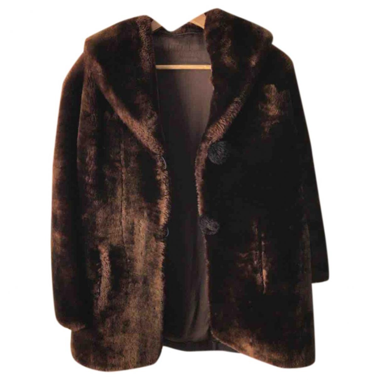 - Manteau Oversize pour femme en mouton - dore