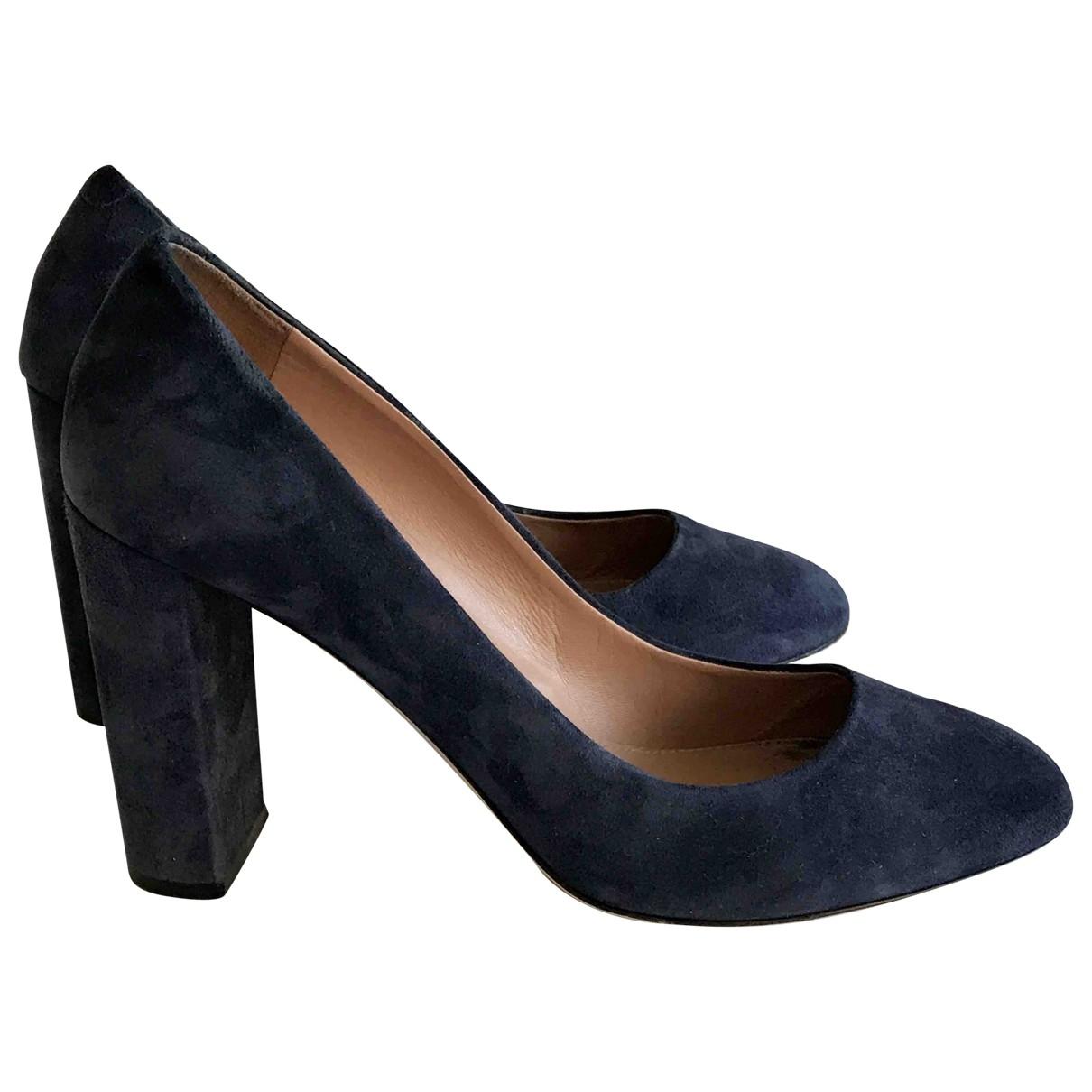 Boss - Escarpins   pour femme en suede - bleu