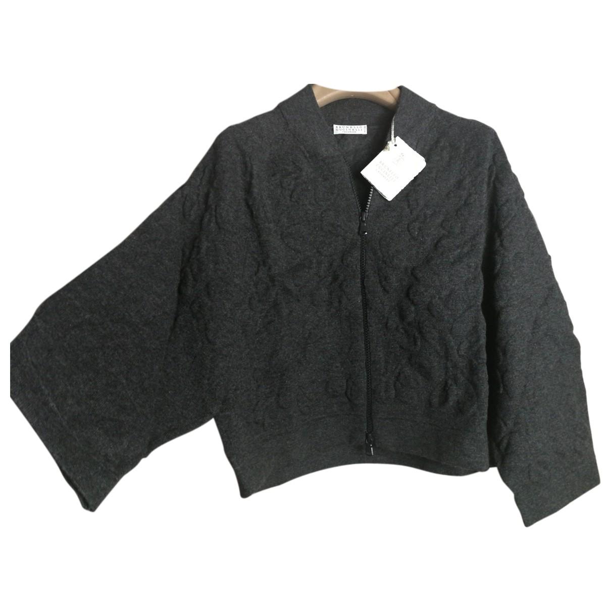 Brunello Cucinelli N Anthracite Cashmere Knitwear for Women M International