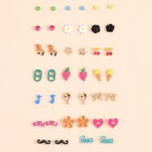 20pairs Cartoon Ear Stud