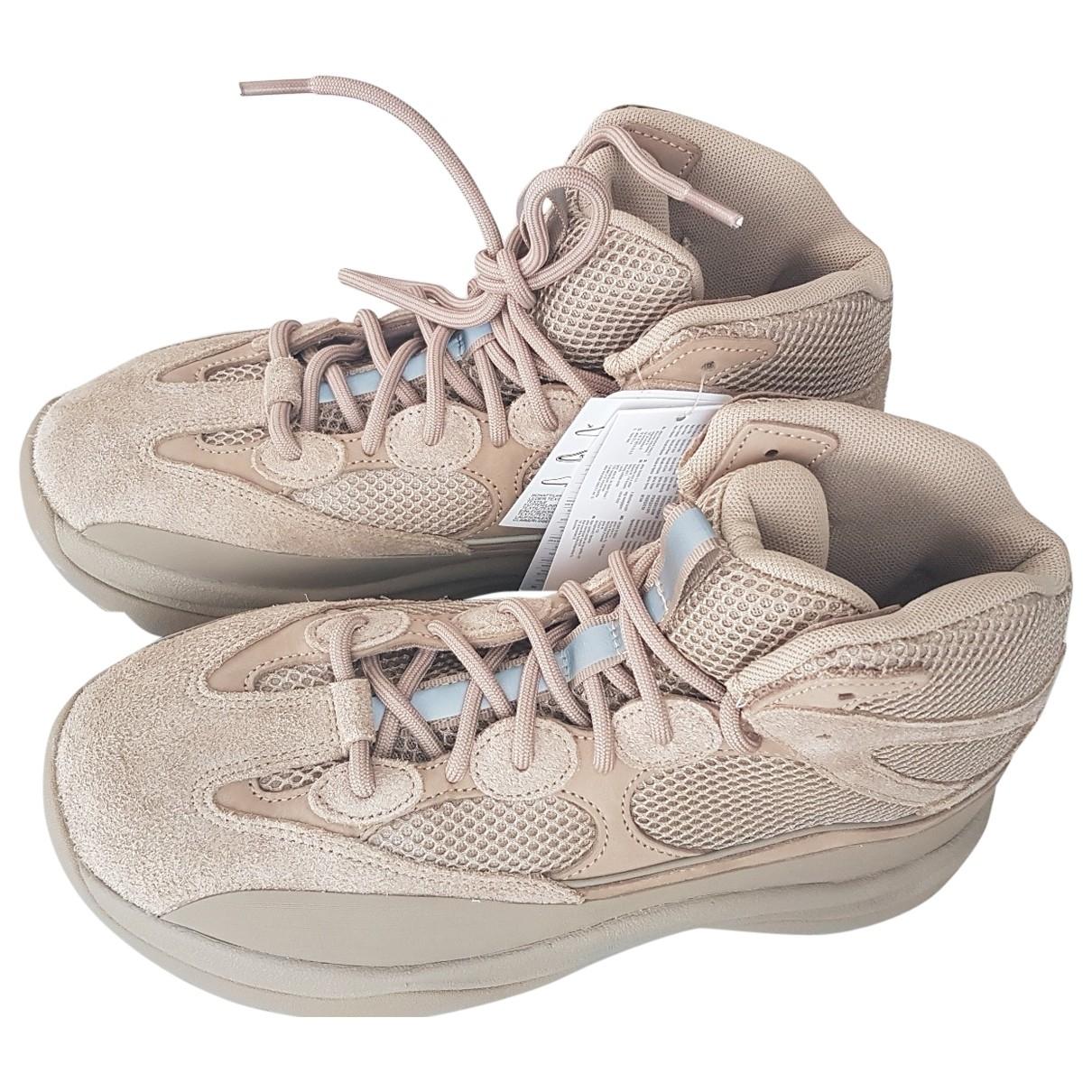 Yeezy X Adidas - Baskets   pour homme en toile - beige