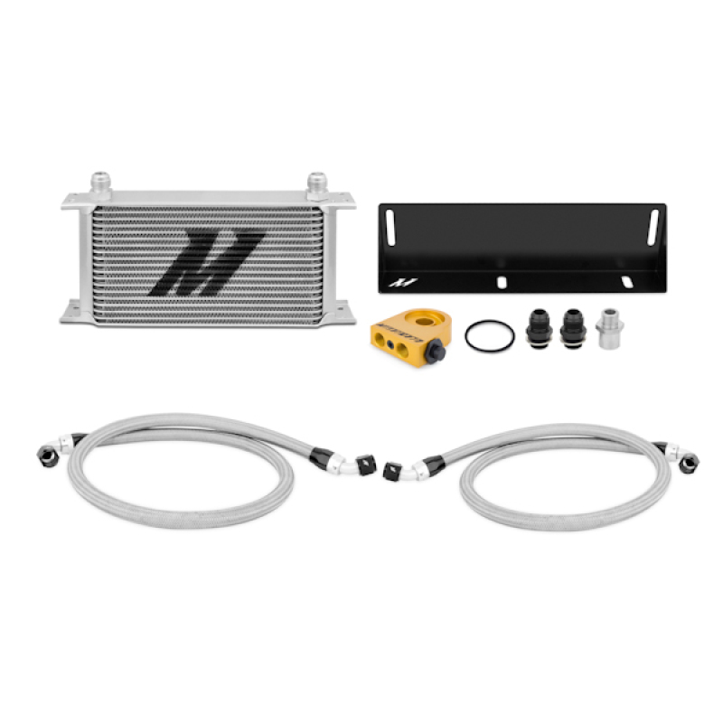 Mishimoto MMOC-MUS-79T Thermostatic Oil Cooler Kit (Silver) Ford Mustang 1979-1993