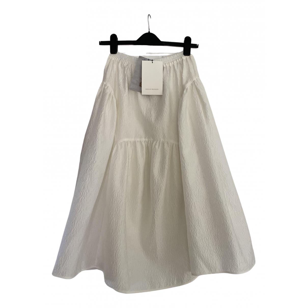 Cecilie Bahnsen \N White Silk skirt for Women 8 UK