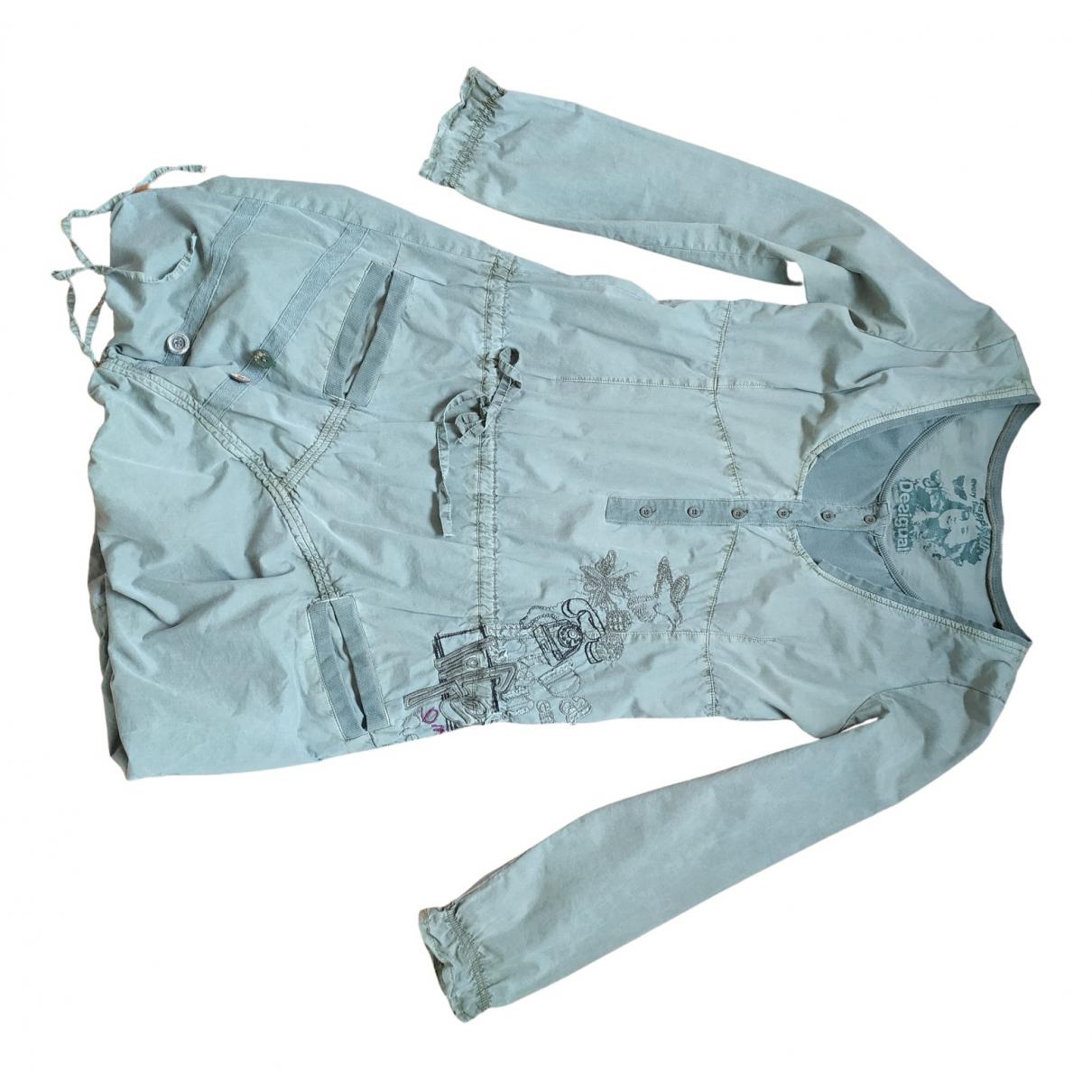 Desigual - Robe   pour femme en coton - kaki