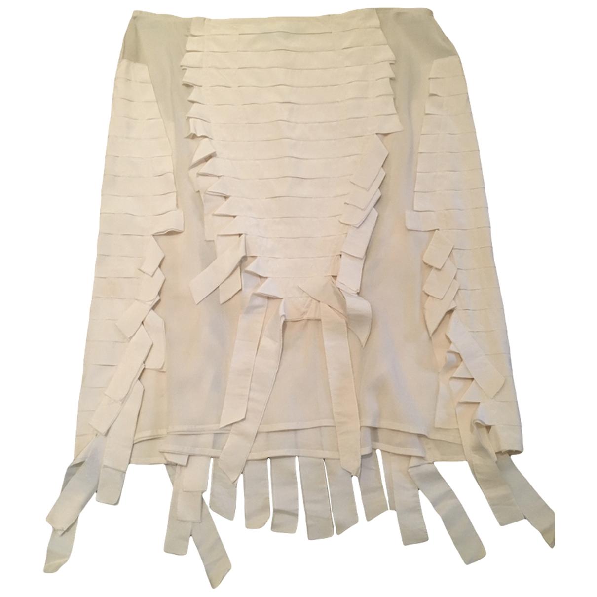 Gucci - Jupe   pour femme en soie - blanc