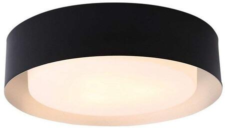Lynch Collection B4106BS Flush Mount Ceiling Light in Black and Silver