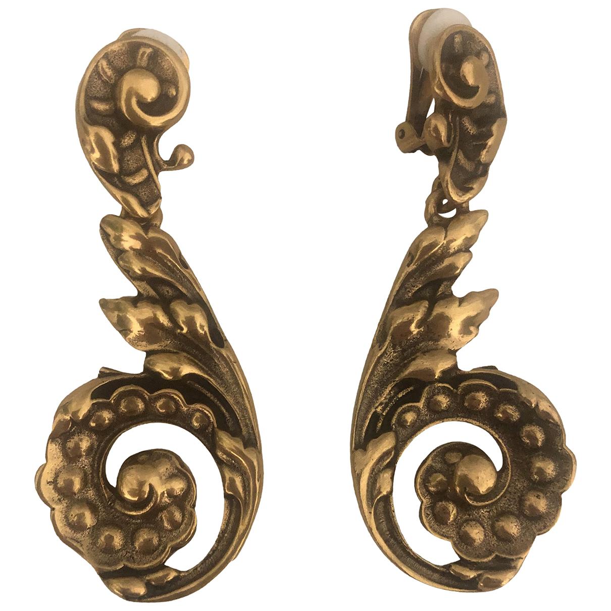 Oscar De La Renta - Boucles doreilles   pour femme en metal - dore