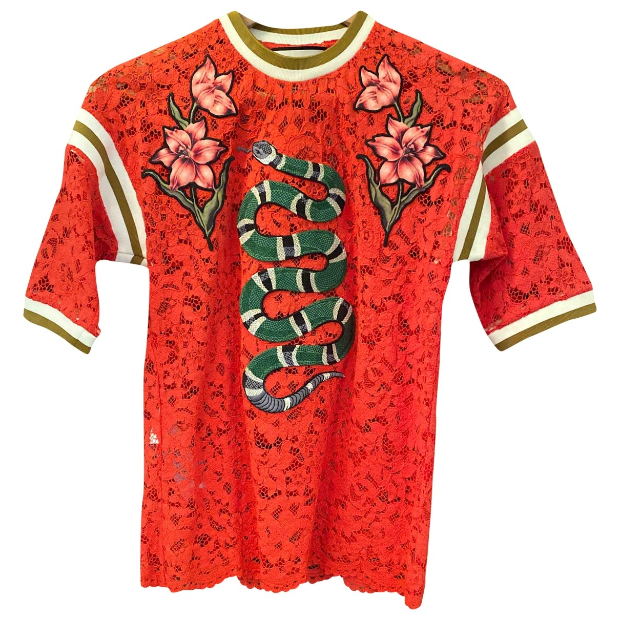 Gucci \N Top in  Rot Spitze