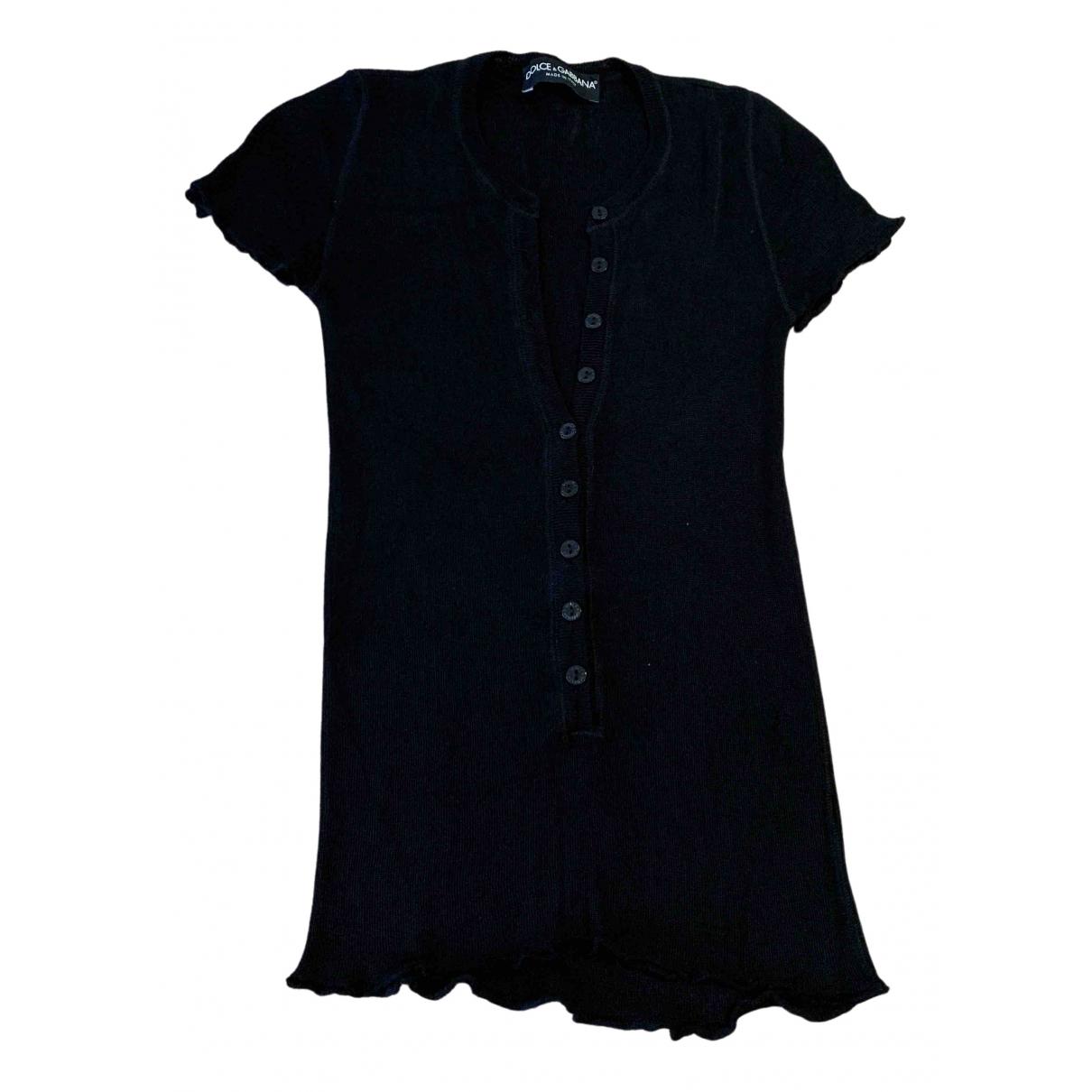 Dolce & Gabbana - Top   pour femme en soie - noir