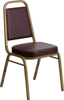 Hercules Collection FD-BHF-1-ALLGOLD-BN-GG Stacking Banquet Chair with Trapezoidal Back Design  Floor Protector Plastic Glides  Powder Coated Frame