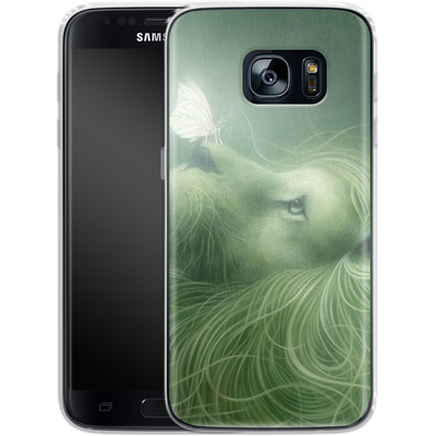 Samsung Galaxy S7 Silikon Handyhuelle - In the Calm of the Pale Moonlight von Dan May
