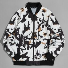 Guys Allover Print Windbreaker Jacket