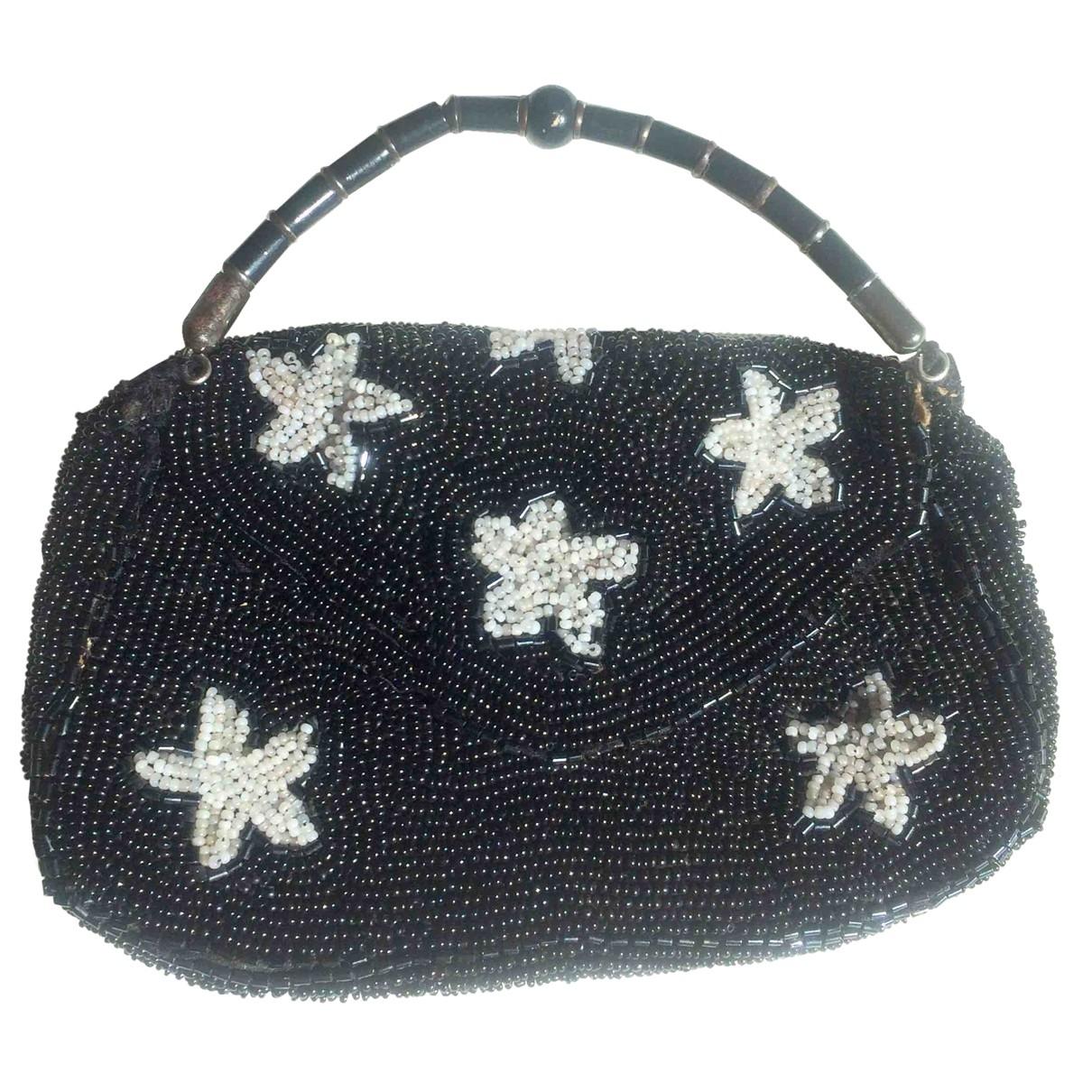 - Pochette   pour femme en soie - noir