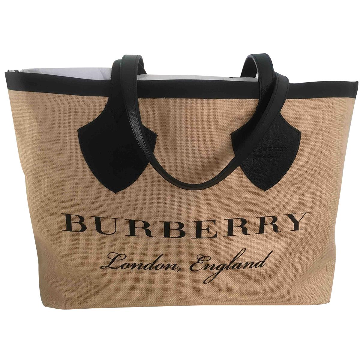 Burberry - Sac a main The Giant  pour femme en toile - noir