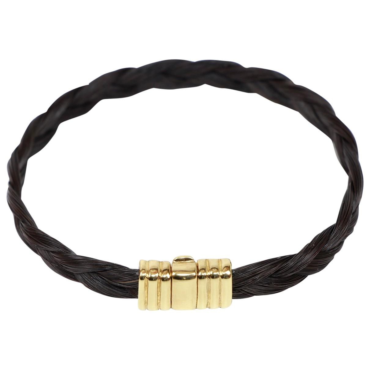Albanu - Bracelet Elephant pour femme en or jaune - noir