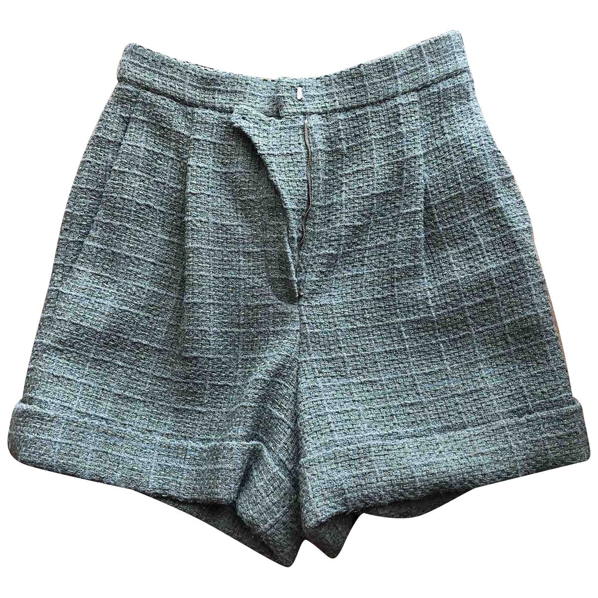 Chanel - Short   pour femme en laine - vert