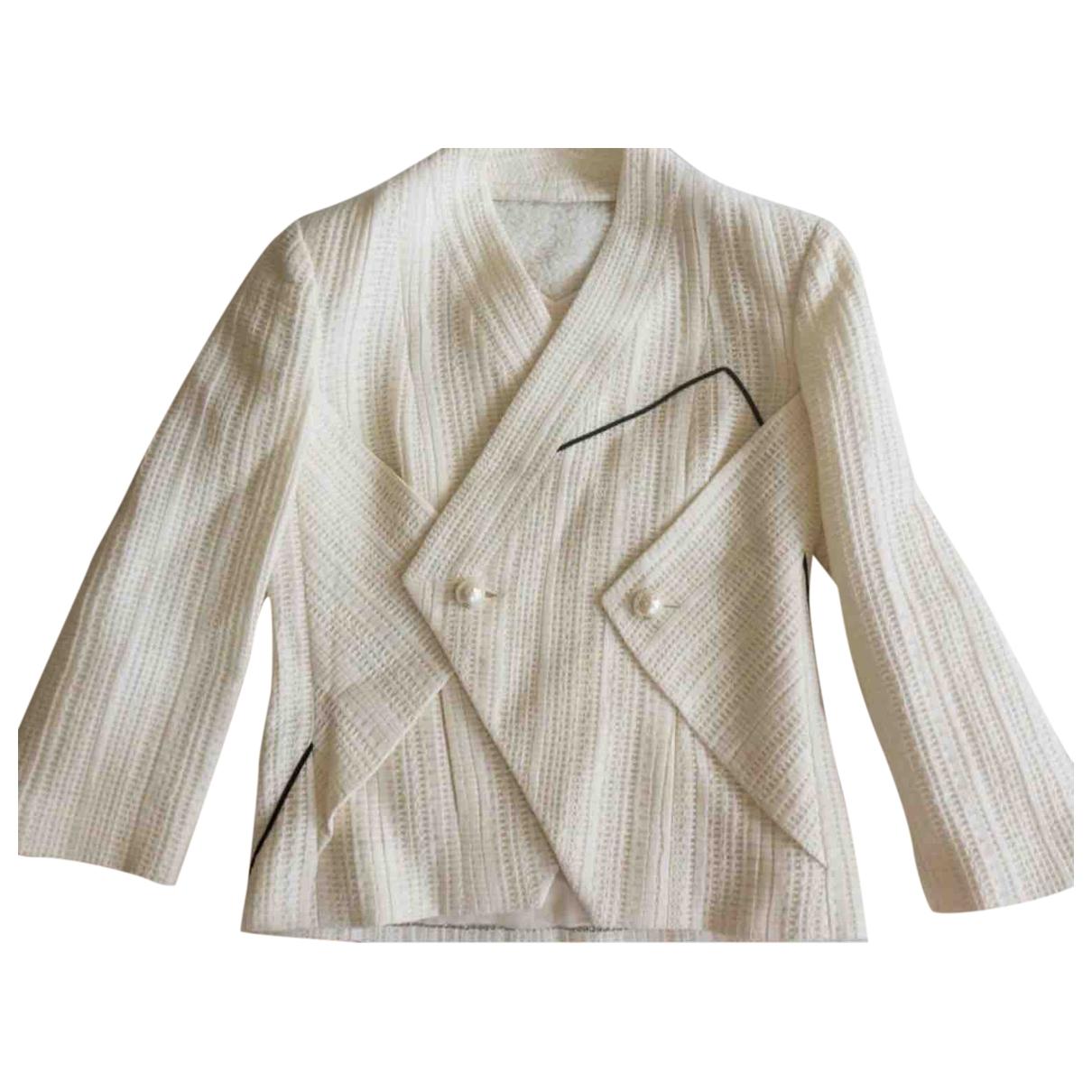 Chanel - Veste   pour femme en coton - beige