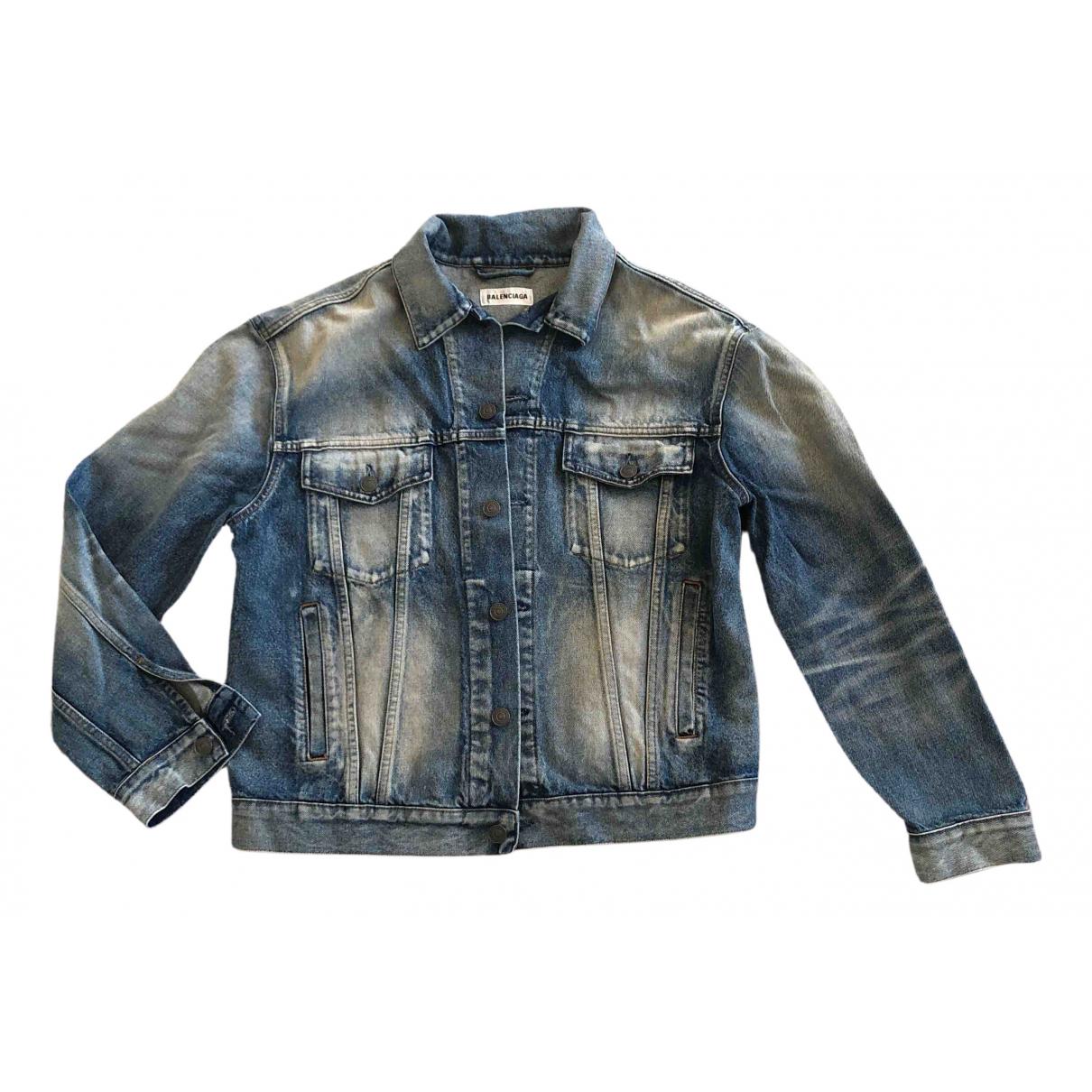 Balenciaga - Vestes.Blousons   pour homme en denim - bleu