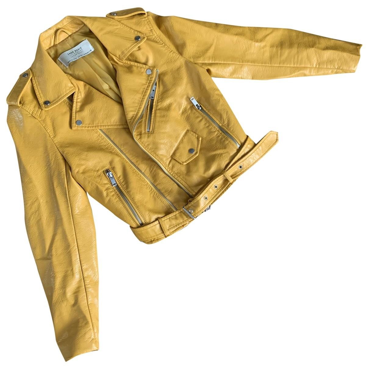 Zara \N Jacke in  Gelb Synthetik