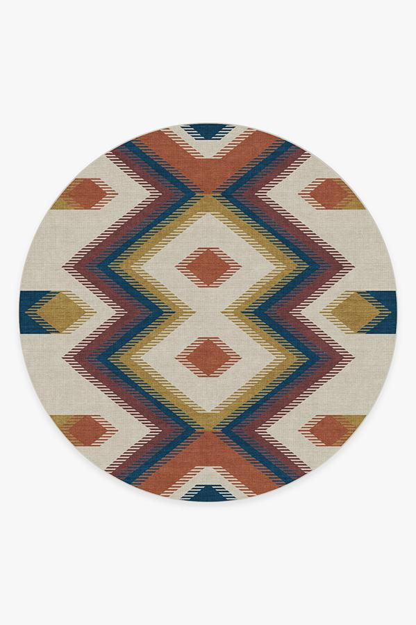 Washable Rug Cover | Anza Polychrome Rug | Stain-Resistant | Ruggable | 8 Round