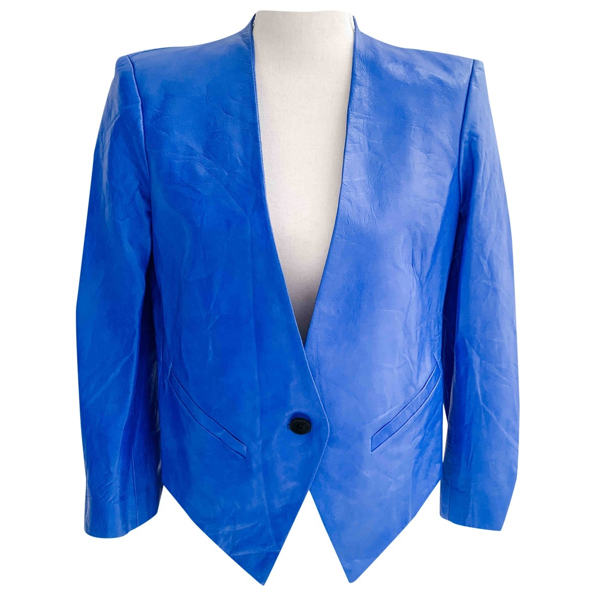 Helmut Lang \N Blue Leather jacket for Women 4 US