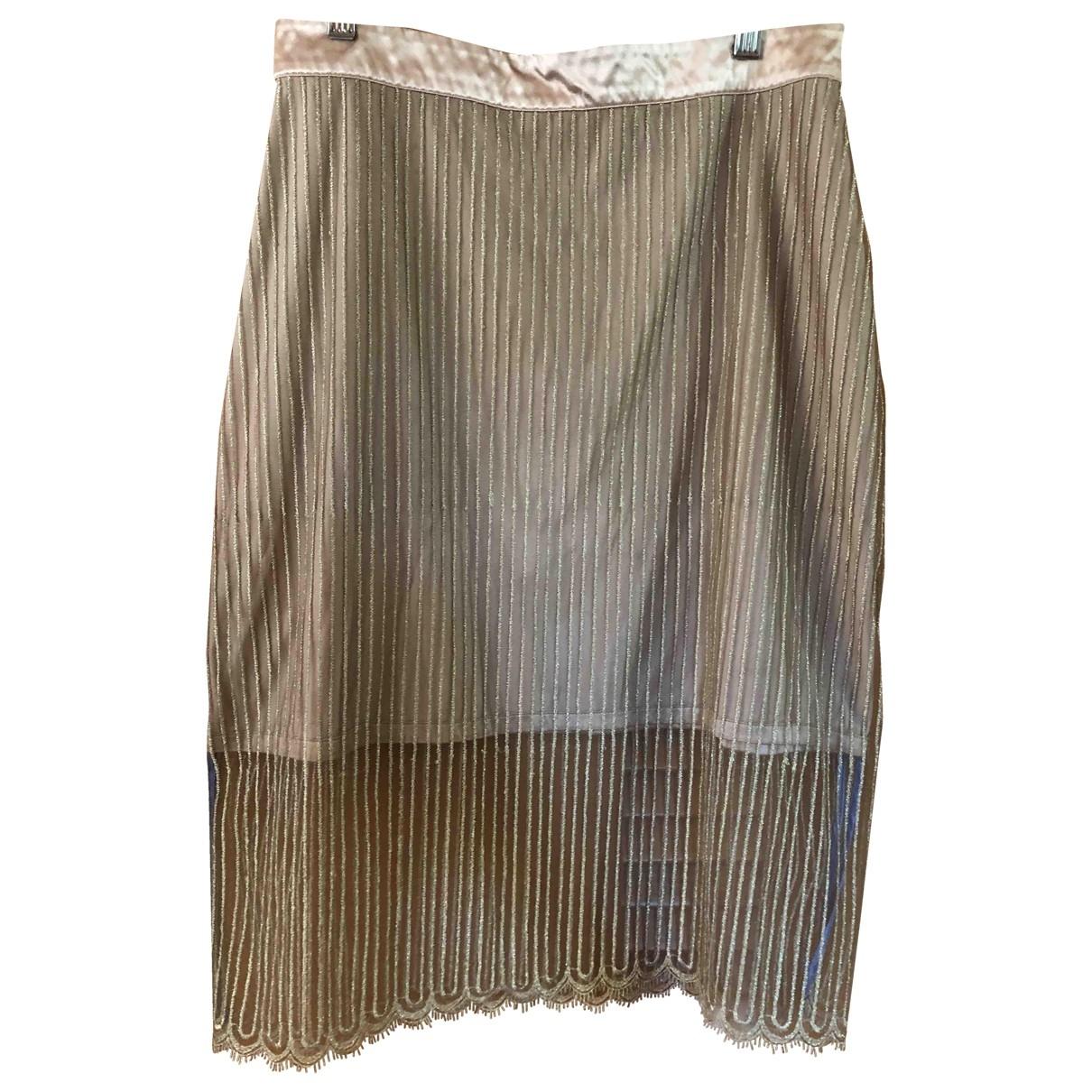 Non Signé / Unsigned \N Gold Glitter skirt for Women 10 UK