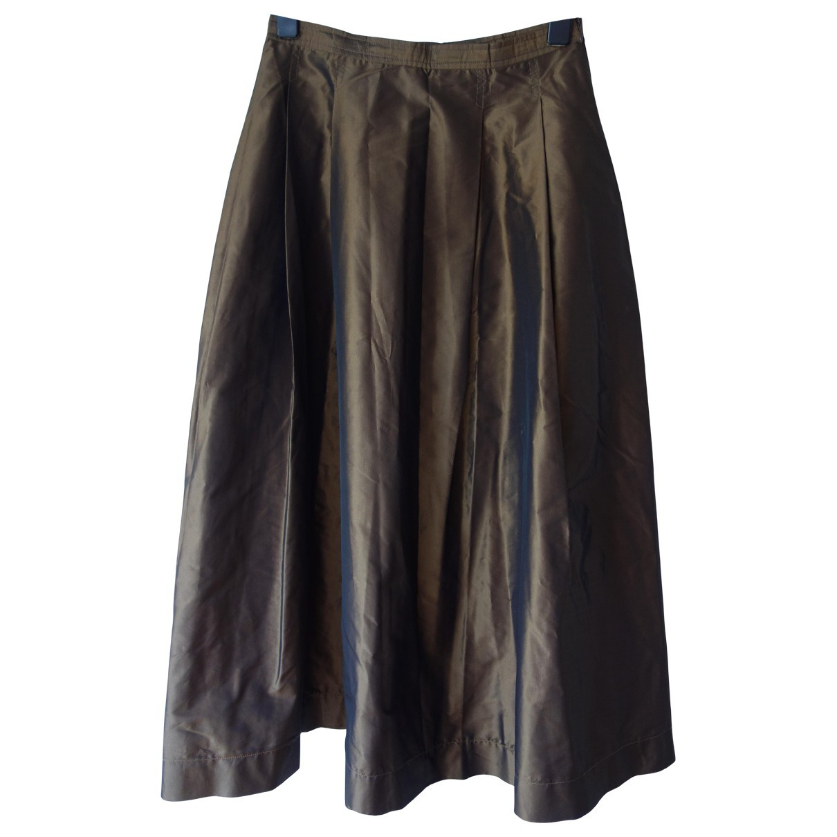 Sofie Dhoore - Jupe   pour femme en soie - marron