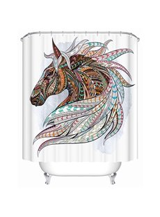 3D Colorful Unicorn Printed Polyester Bathroom Shower Curtain