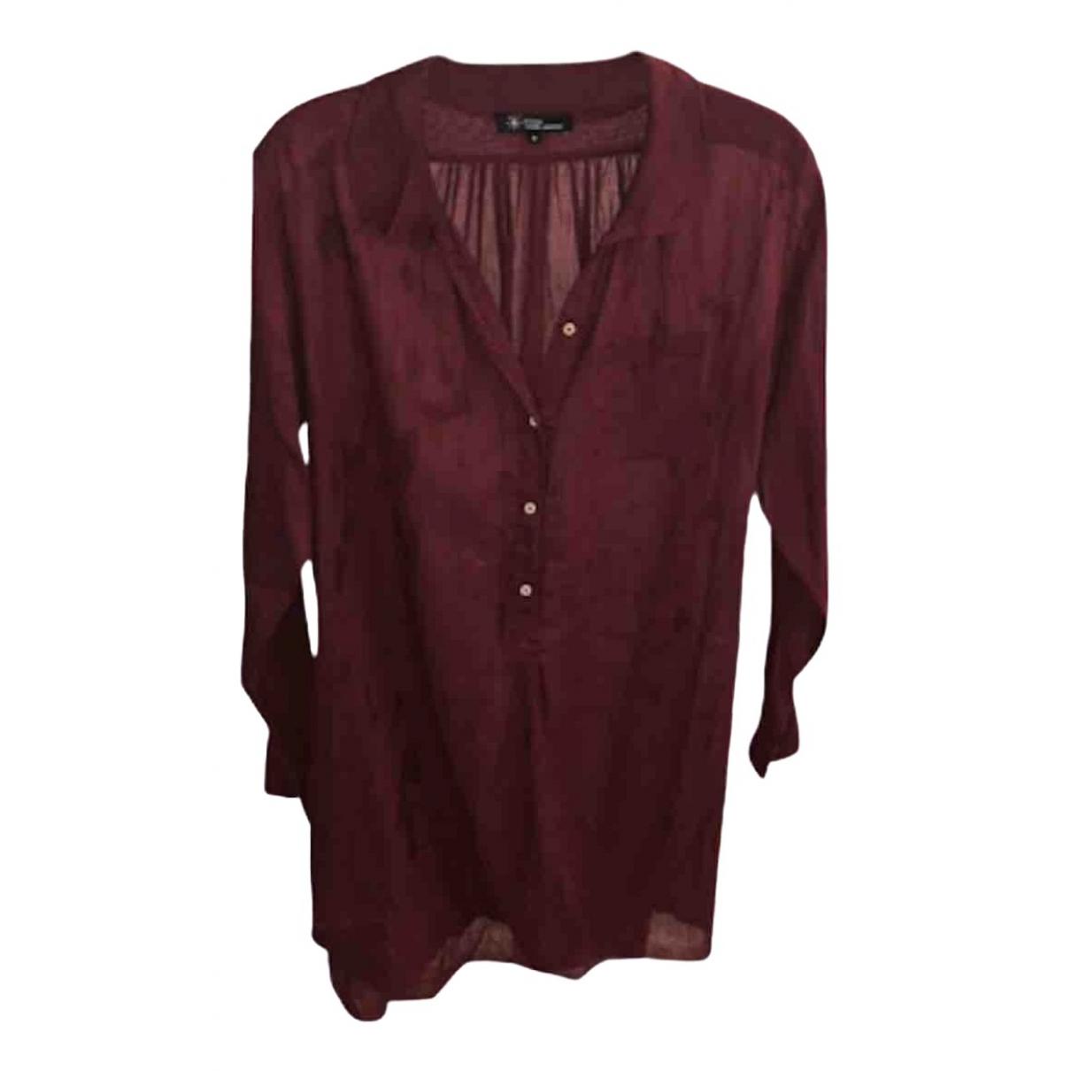 Isabel Marant Etoile \N Burgundy Linen Knitwear for Women 0 0-5