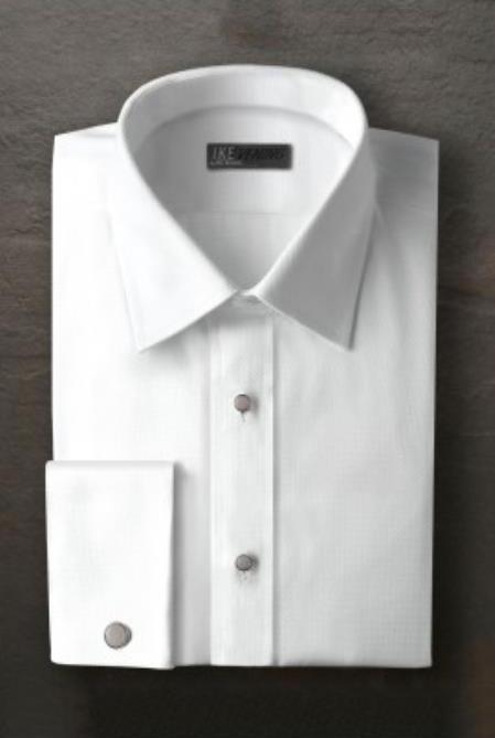 Logan White Laydown Tuxedo Shirt