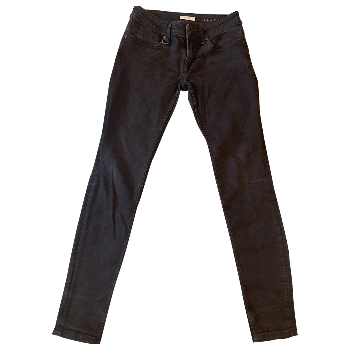 Burberry \N Anthracite Denim - Jeans Jeans for Women 26 US