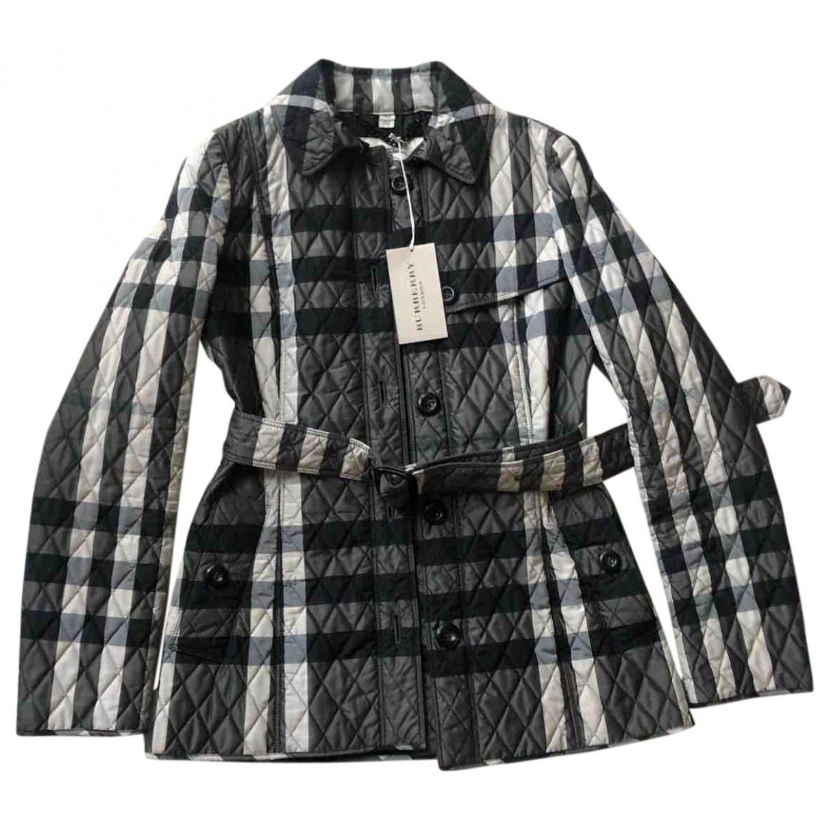 Burberry \N Maentel in  Grau Polyester