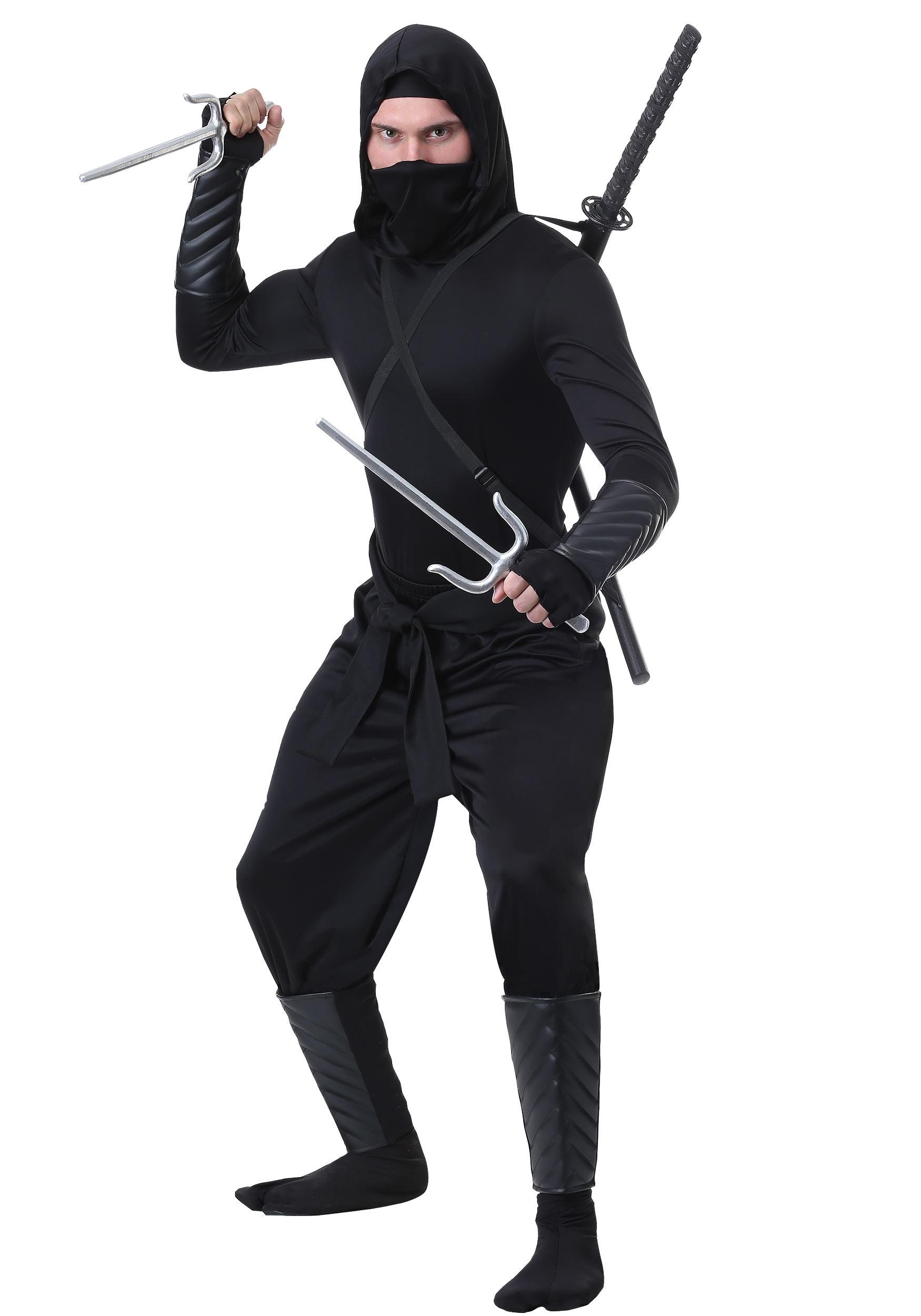 Stealth Shinobi Ninja Costume for Adults