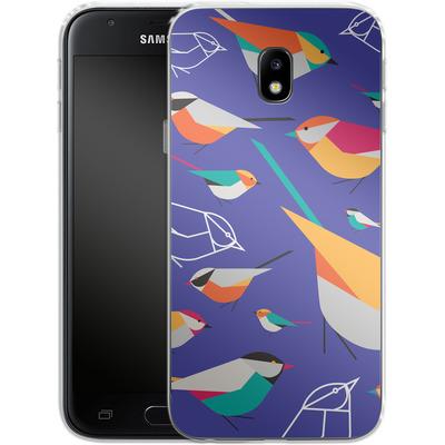 Samsung Galaxy J3 (2017) Silikon Handyhuelle - Birds Talk von Susana Paz