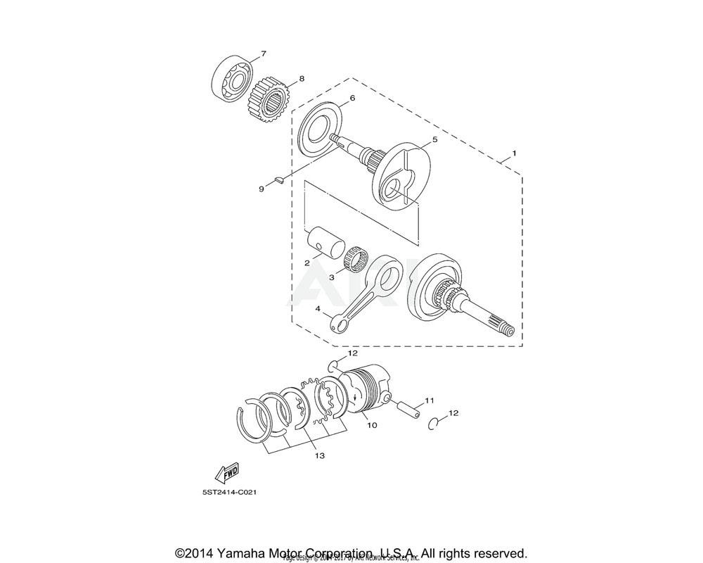 Yamaha OEM 10B-E1603-00-00 PISTON RING SET (STD)