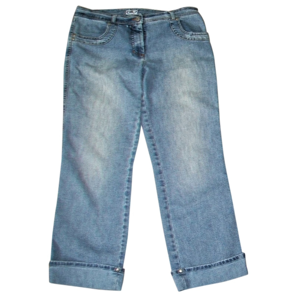 Byblos - Jean   pour femme en coton - bleu
