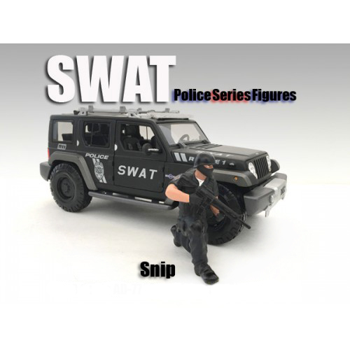 SWAT Team Snip Figure For 124 Scale Models by American Diorama