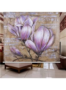 Hand-Painting Pink Flowers 3D Printed Roller Shades