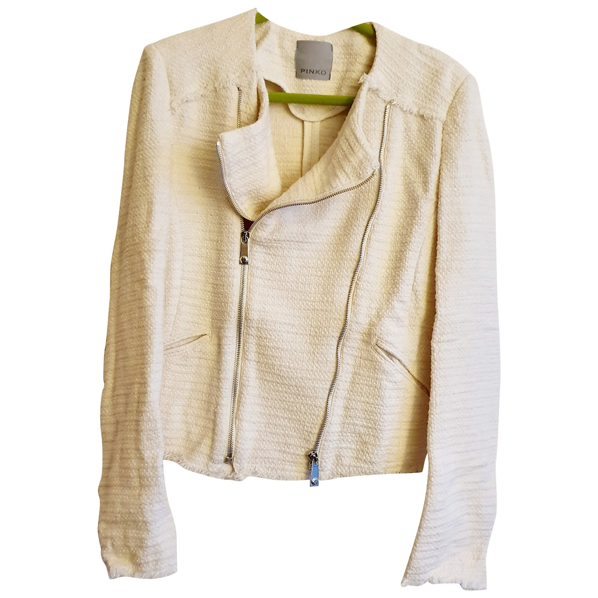 Pinko \N Ecru Cotton jacket for Women 36 FR