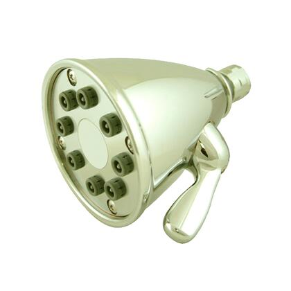 WH139-B Showerhaus round showerhead with 8 spray jets - solid brass construction with adjustable ball
