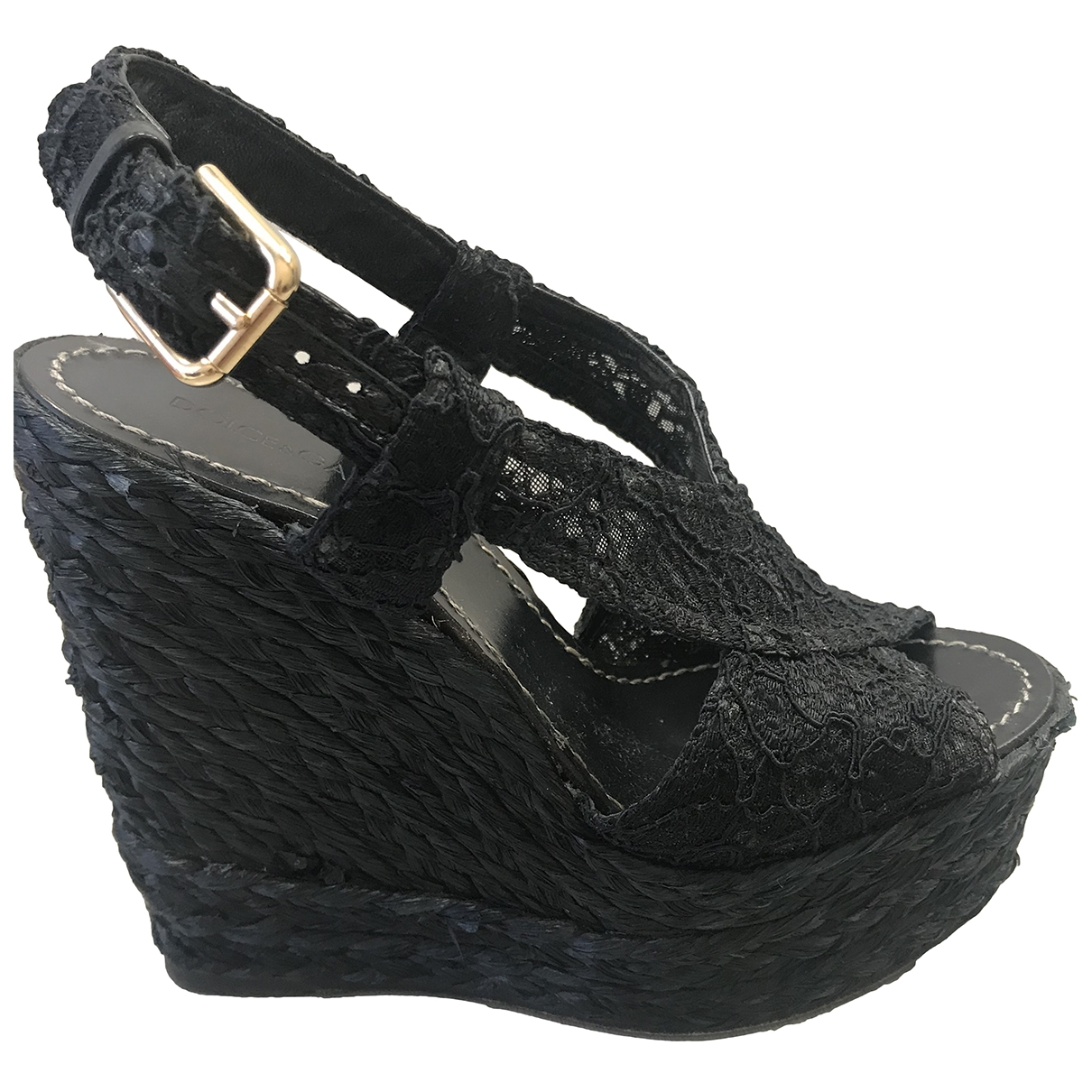 Dolce & Gabbana \N Black Cloth Sandals for Women 35 EU