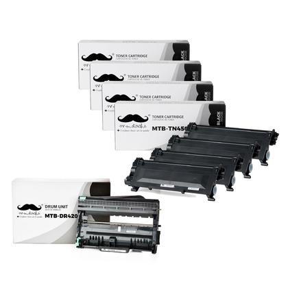 Brother TN450 DR420 cartouche de toner et tambour compatible combo - Moustache®