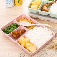 1pc Random Color Lunch Box With Spoon