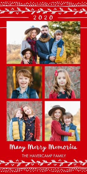 Christmas Photo Cards Flat Glossy Photo Paper Cards with Envelopes, 4x8, Card & Stationery -2020 Many Merry Memories Collage by Hallmark