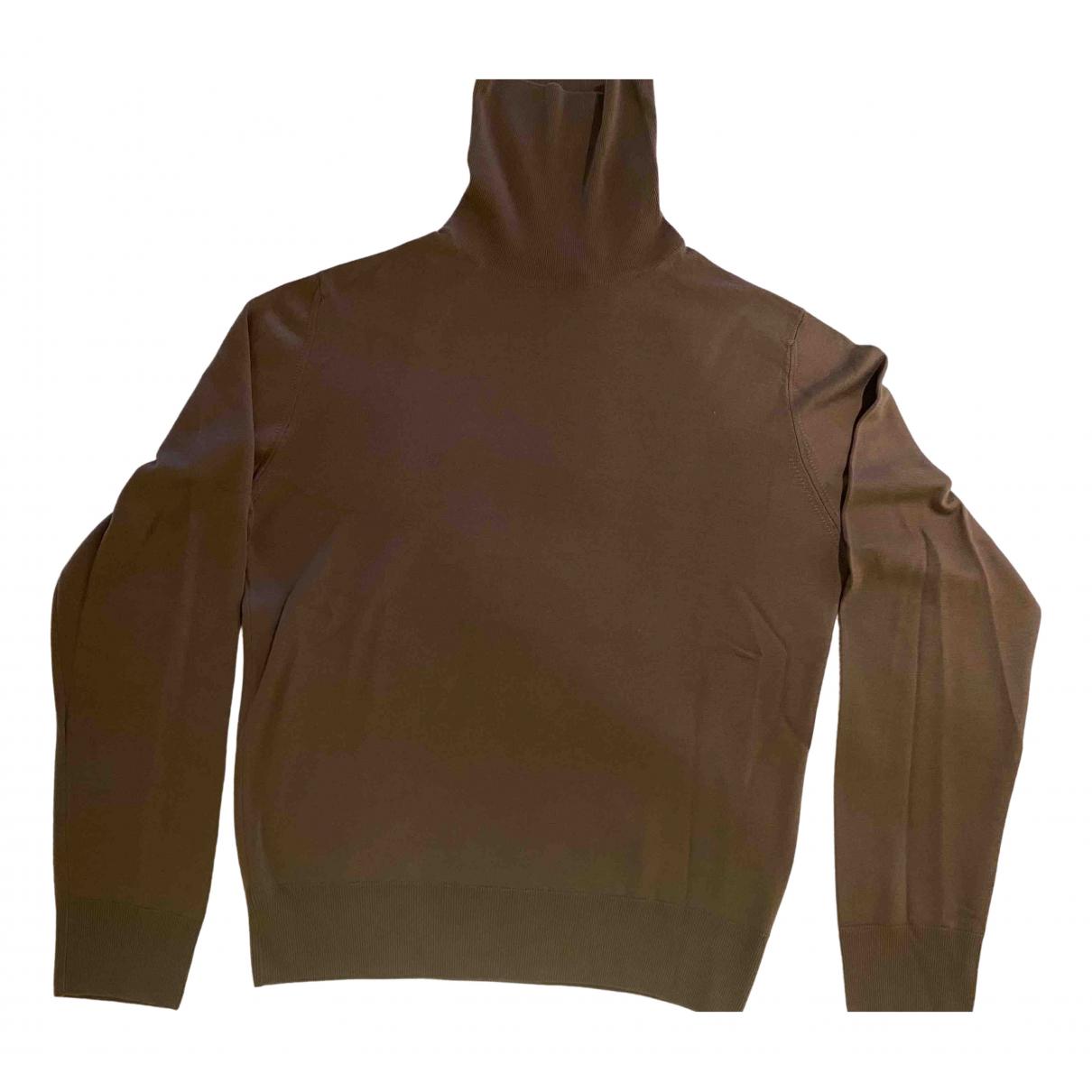 Saint Laurent \N Pullover.Westen.Sweatshirts  in  Braun Wolle