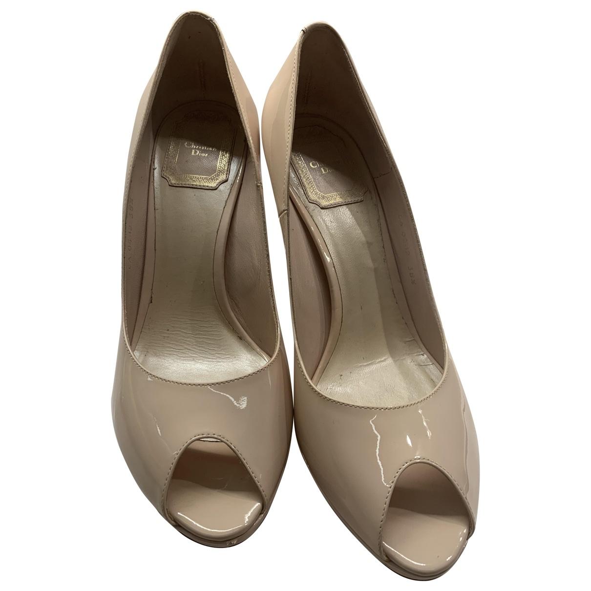 Dior - Escarpins   pour femme en cuir verni - beige